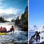 Med forsränning, skidåkning och äventyr på schemat